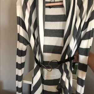 Very cute Striped cardigan size L.
